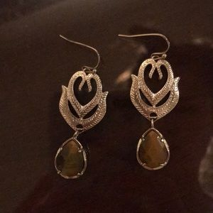 Kendra Scott brown and gold earrings